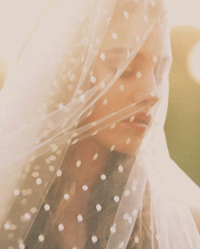 portrait of a bride with a veil