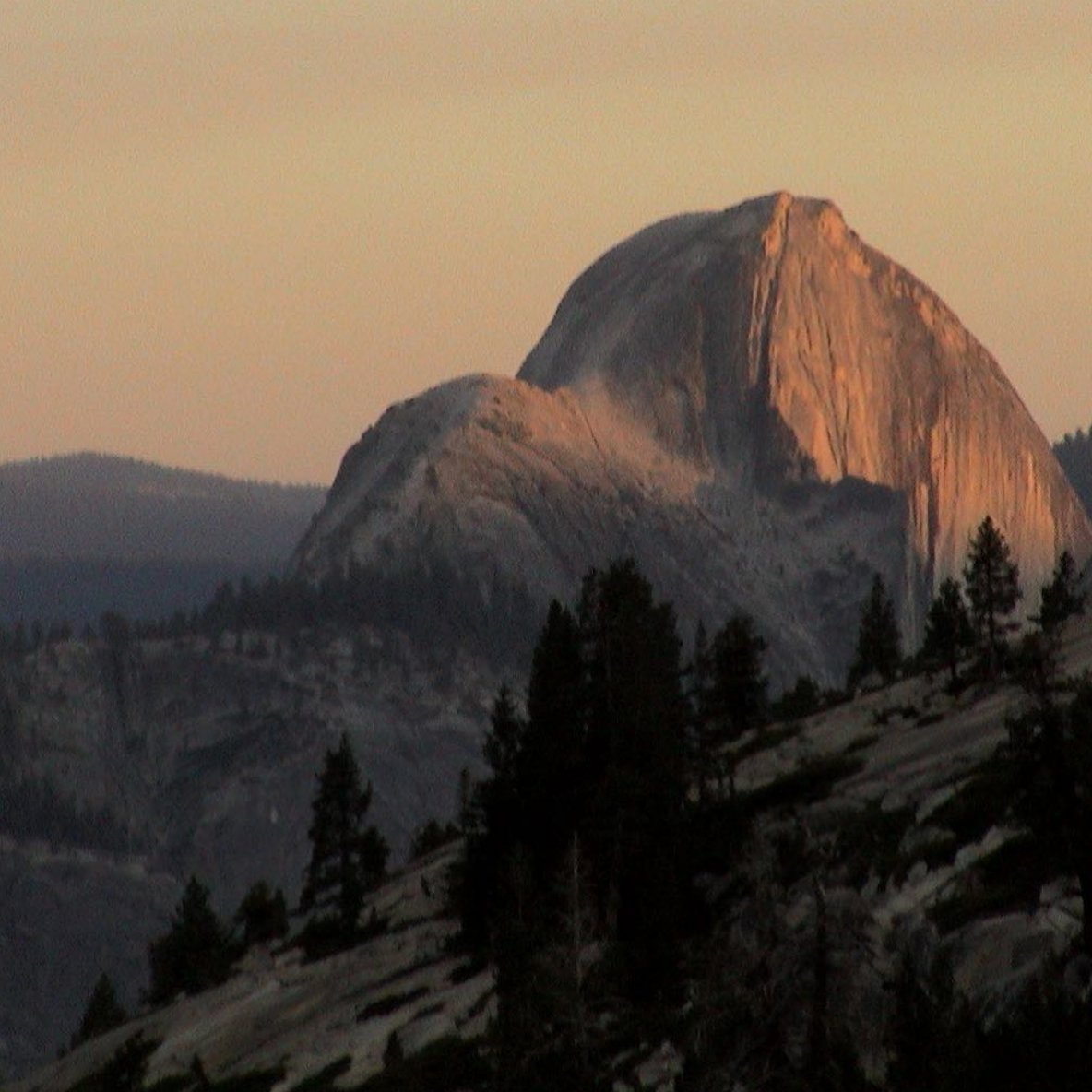 Yosemite National Park- Half Dome at Sundown