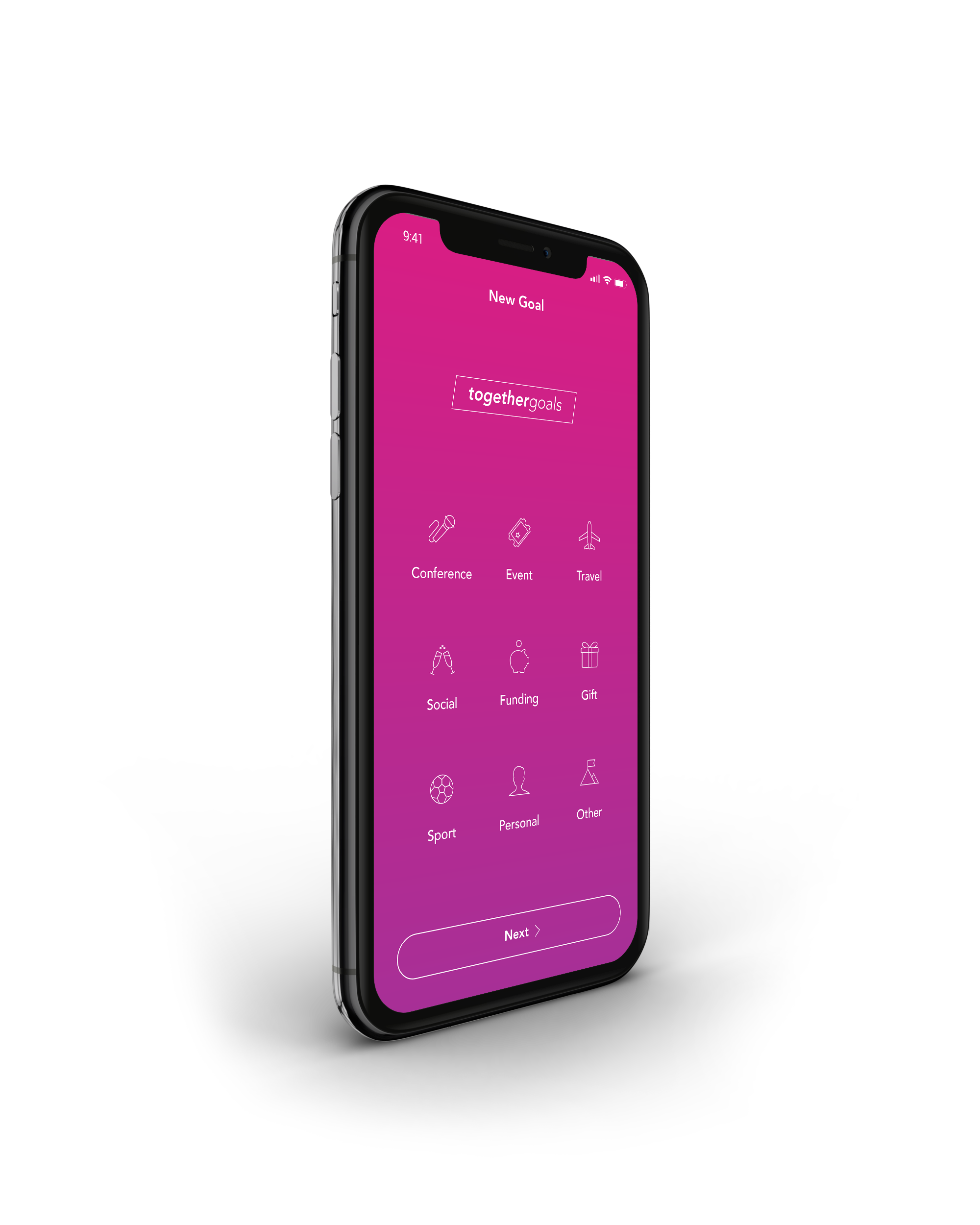 Create Goals - Create multiple public or private goals and keep track of all your upcoming events in one place. From sports tournaments to conferences or travelling with friends - whatever the goal, begin together today.