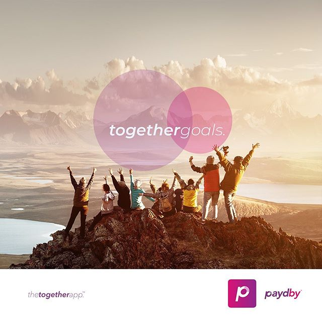 Together, we can achieve better, faster, more powerfully!  Paydby enables individuals to connect with friends, create goals and milestones and keep other accountable within the app.  Download the together app today!  #paydby #thetogetherapp #togethergoals #bettertogether
