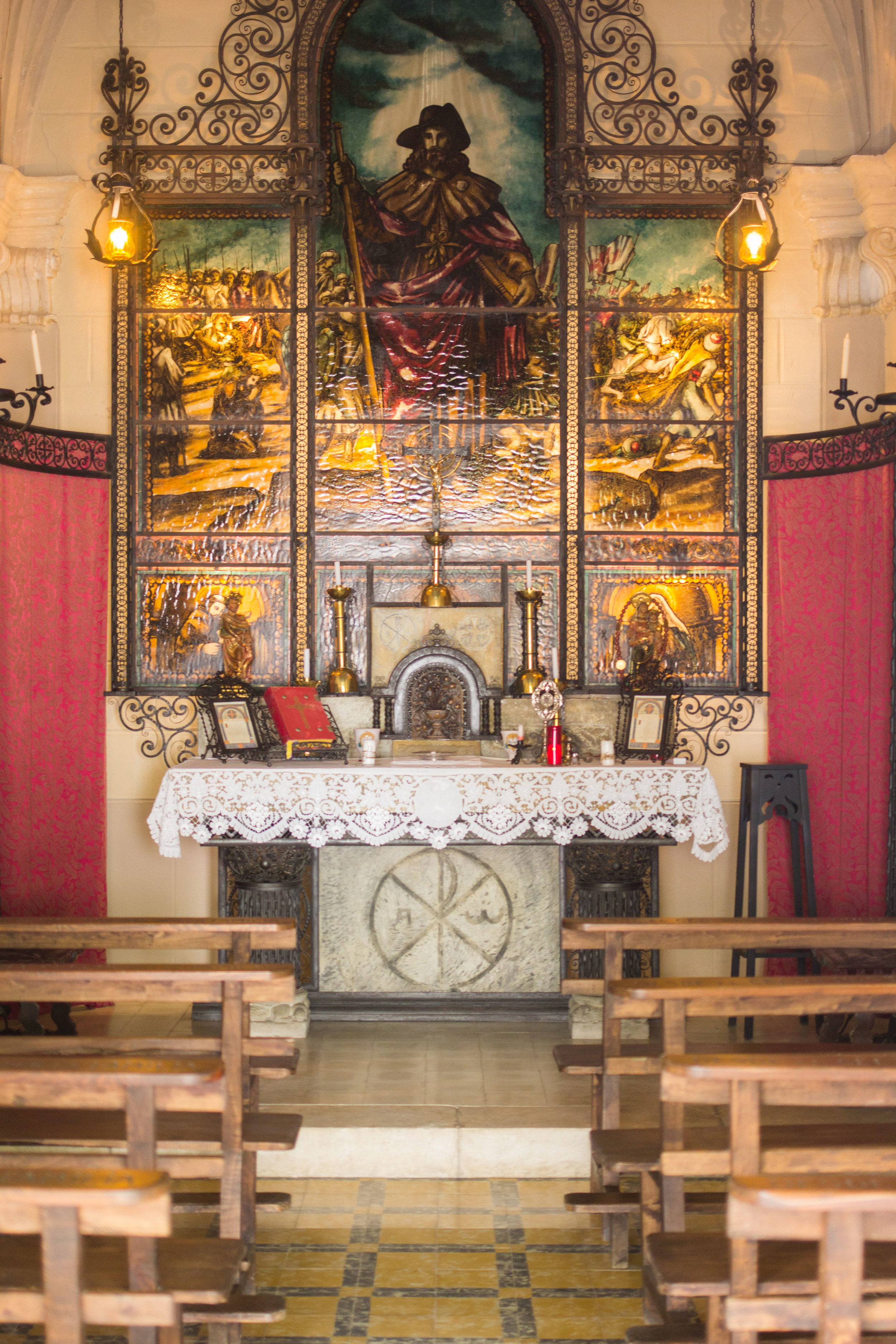 An altar showcasing christian art devotional historical renaissance painting