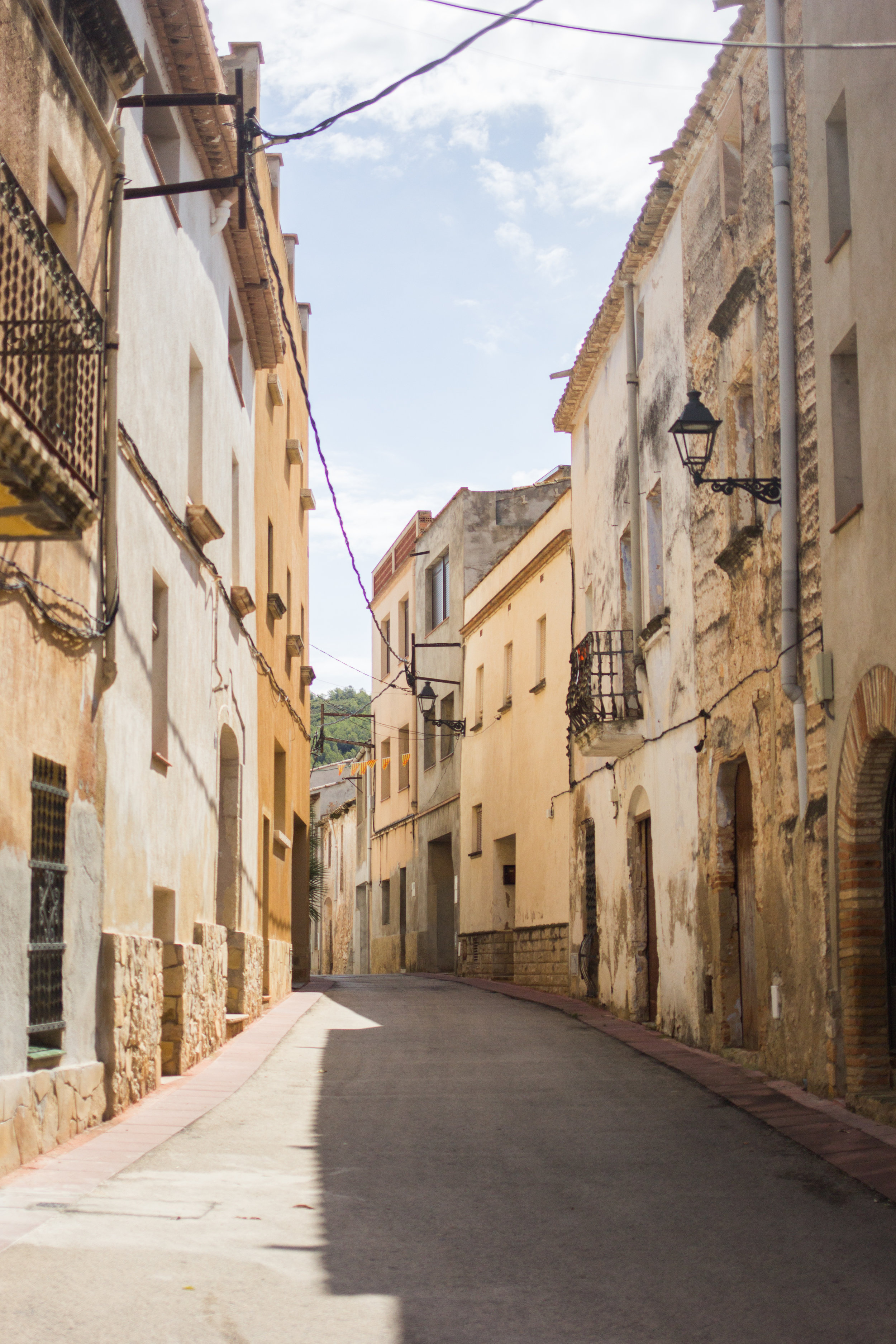 A narrow street in a small Catalunya town