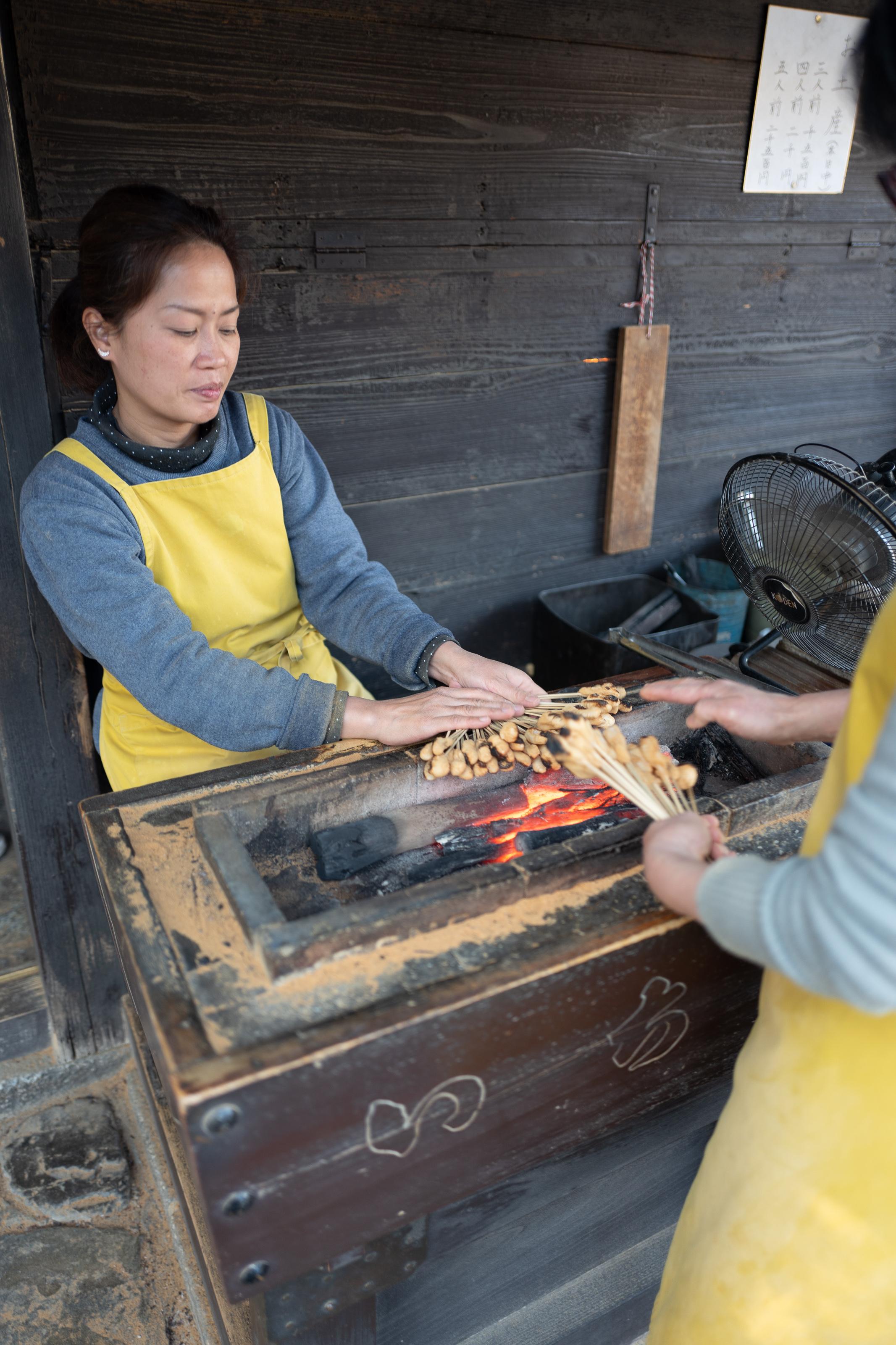 Aburimochi is made to order at Ichiwa