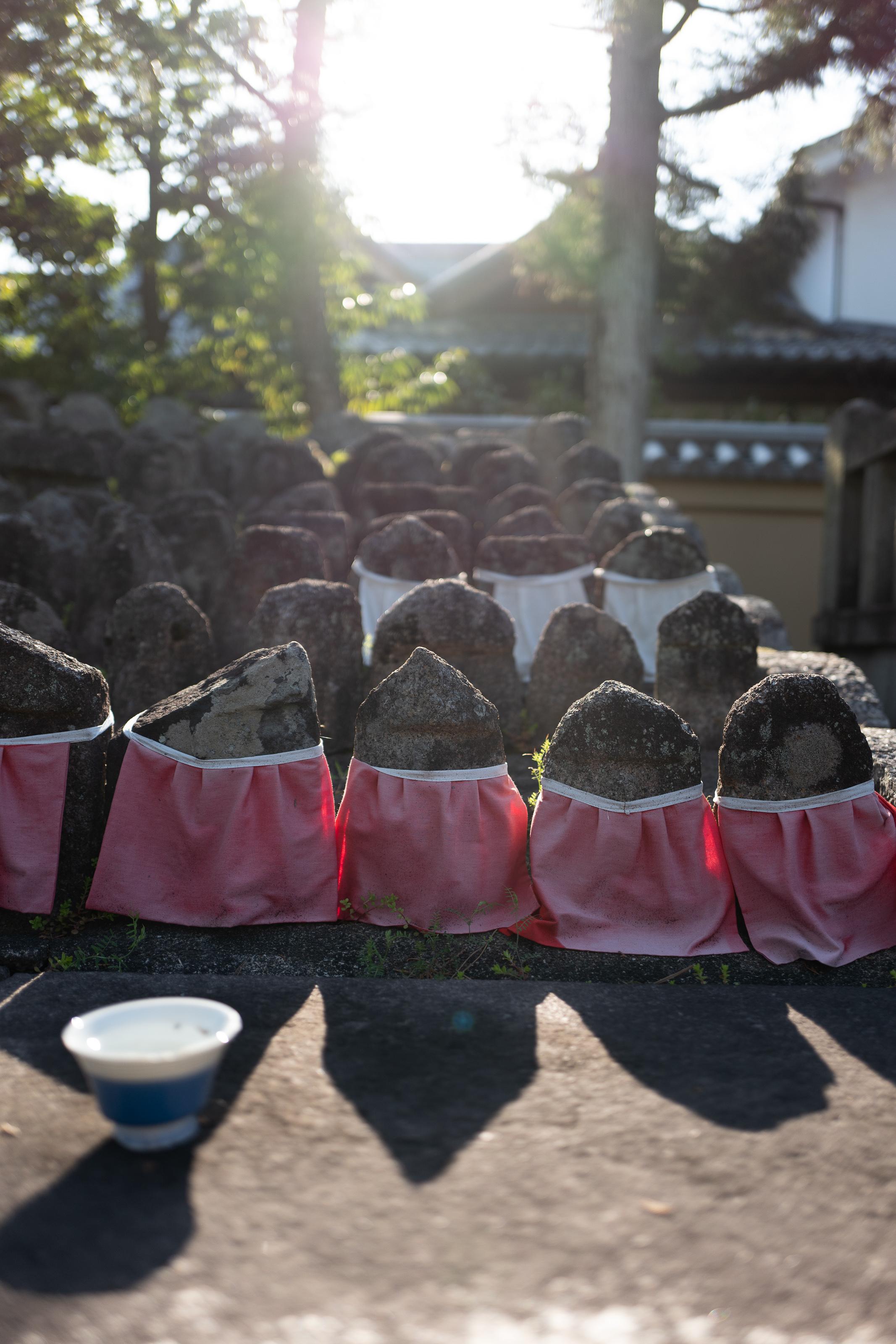 Jizo statues in Daitokuji Temple