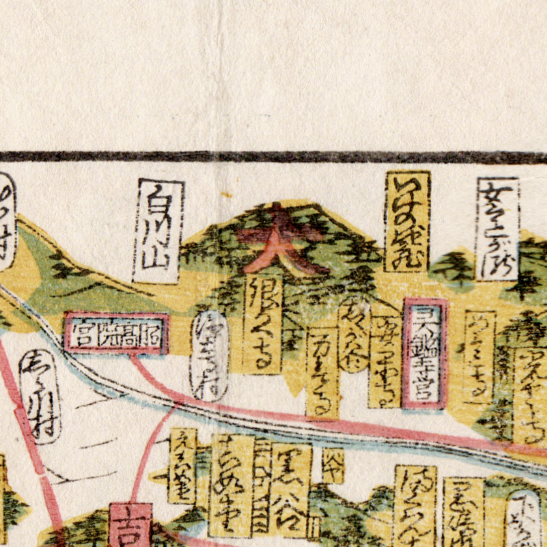 Daimonjiyama as depicted on the map.