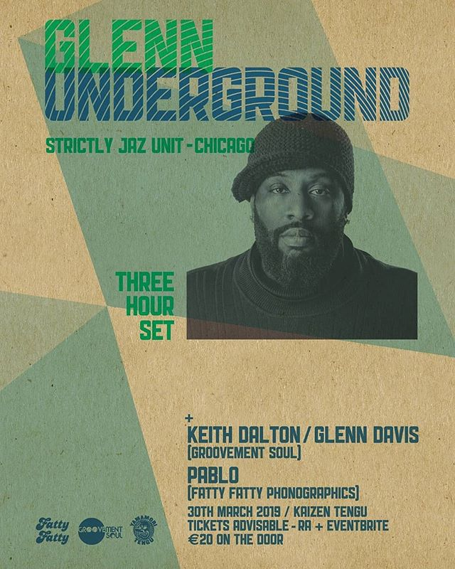 "Getting really excited for this Saturday night in Tengu's Kaizen Bar for Chicago's Very Own Glenn Underground!  What an immaculate body of work the man has blessed us with over the last 25 years. Every single release/remix/edit is injected with dangerous amounts of Funk, drips Soul he is the true master of the Deep. Unlike some of the other legends of House Music that still produce, Glenn's work keeps soaring to new heights, take for example 2017's spellbinding ""Contact (Nova)"" (my track of that year by a country mile) & 2018's Acid Workout ""Spank N Gallop"" (an homage to fallen brothers, Spanky & Armando Gallop) It seems Glenn is only getting started... So... A true Bona Fide, House Music Treasure in a tiny dark room with a great sound system & kindred spirits... Its a real no brainer as to where you will find me on Saturday Night. Front Left, ready to sweat, hopefully I will see some of you true dancers there too... VAMOS : words by marquis d'alton 😍"