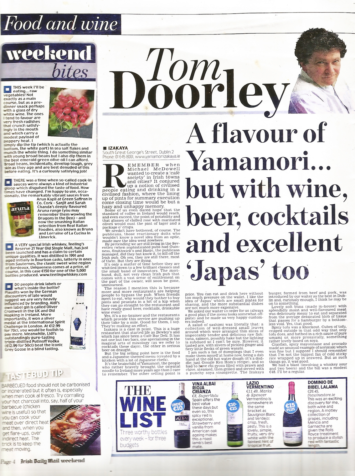 Tom Doorley for the Irish Daily Mail