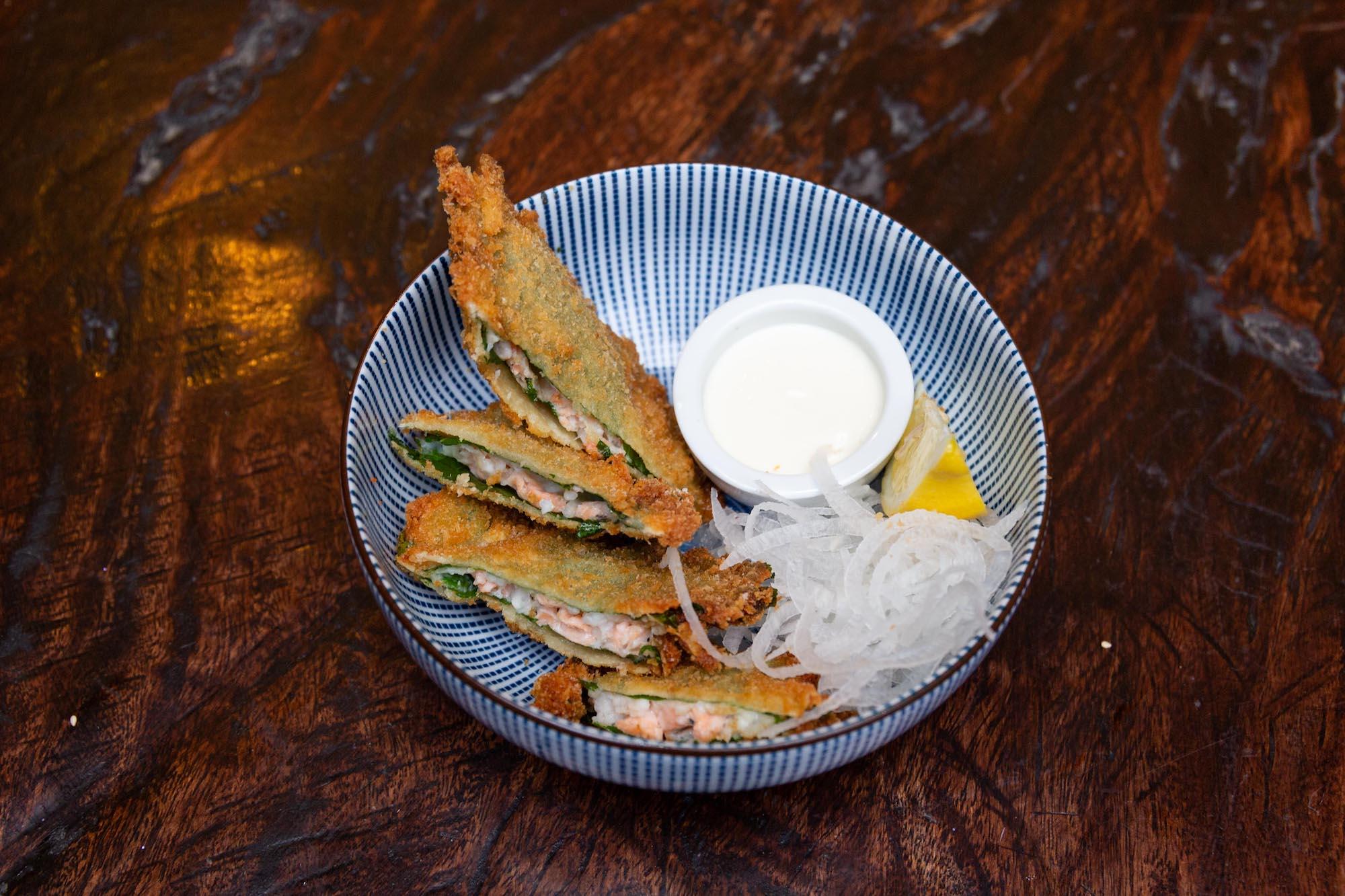 Seafood shiso katsu