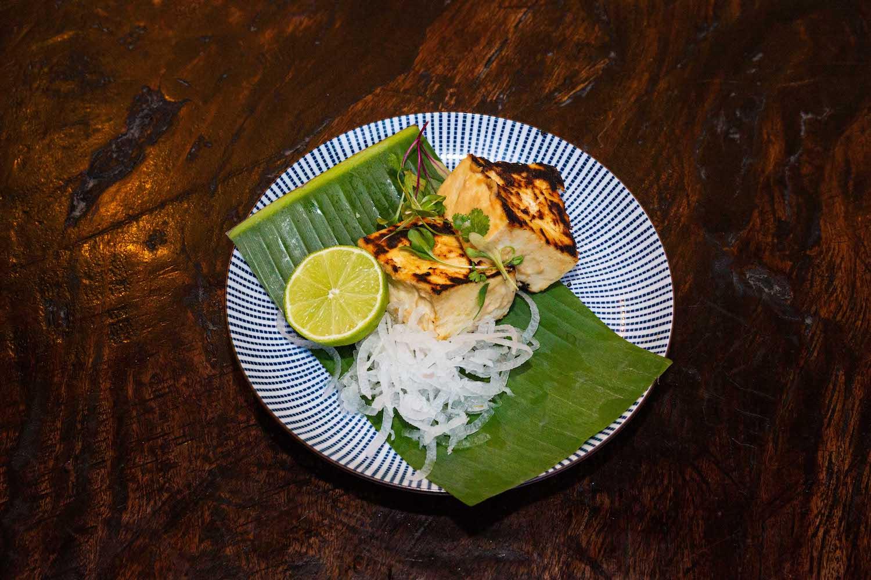Saykio Tofu with lime and daikon radish