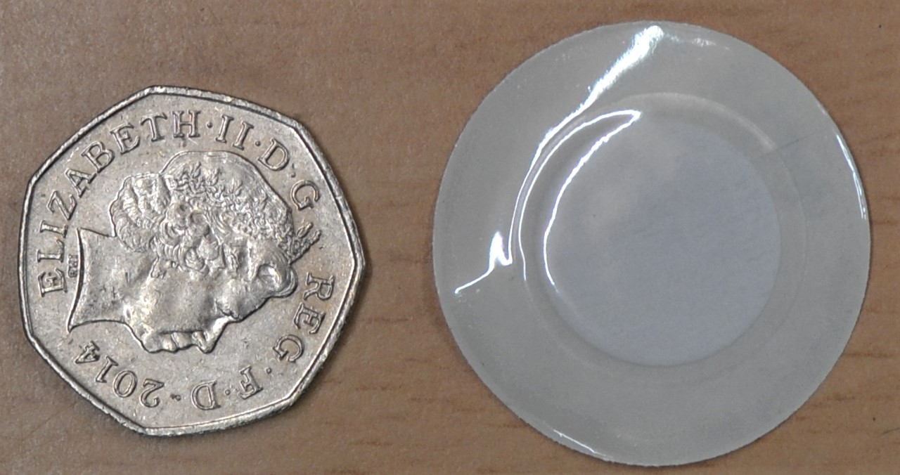 The patches are slightly bigger than a 50 pence piece. Image: G. Bull