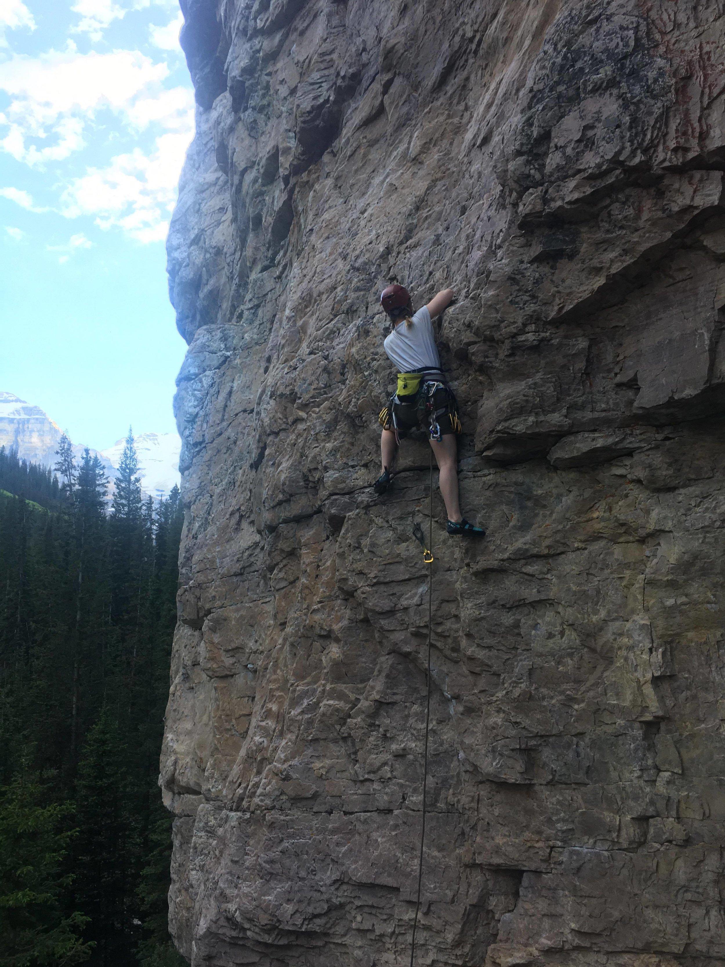 Rosa climbing in Canada.  Image credit: Rosa Pearce