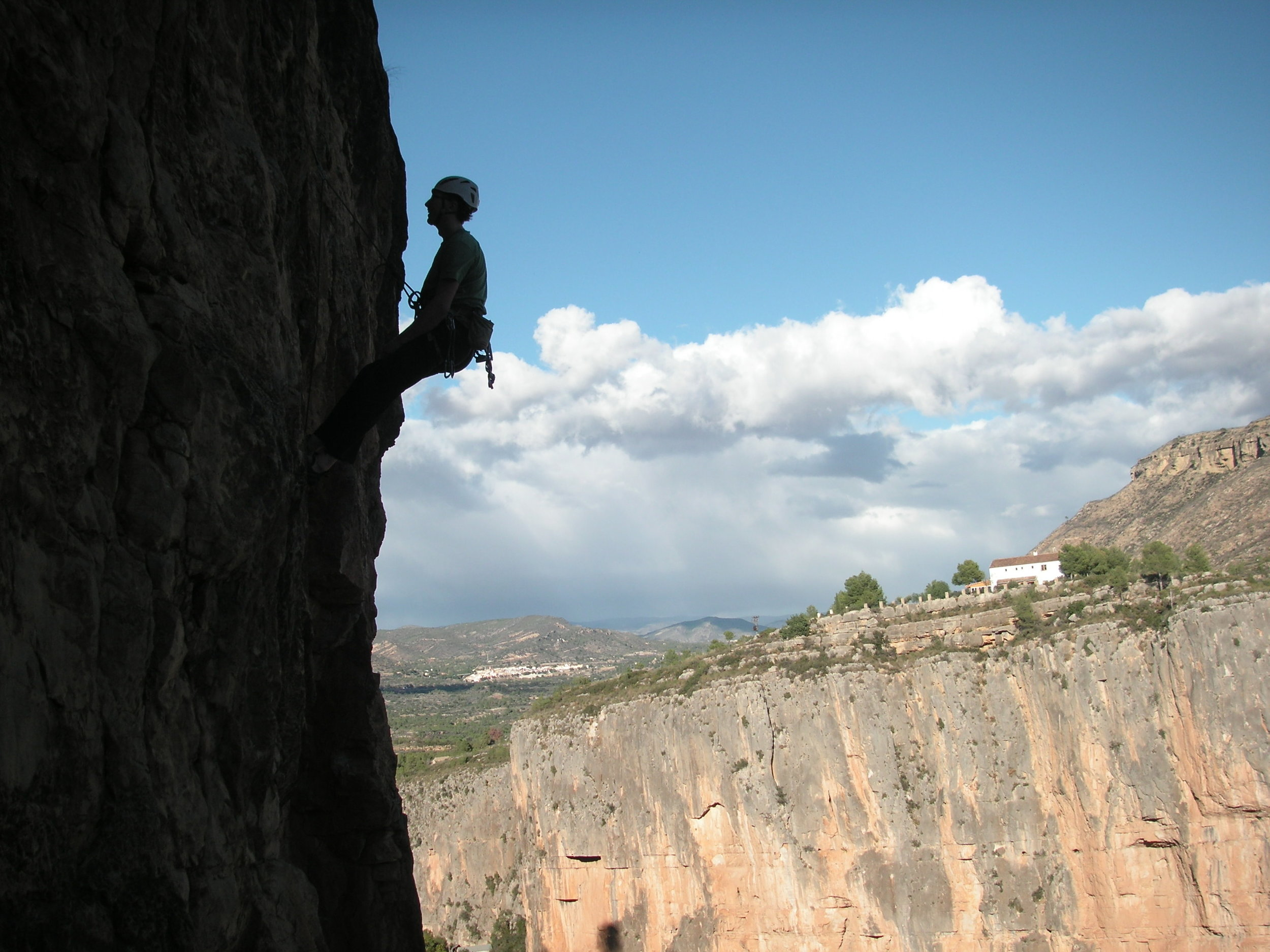 Climbing in Spain.  Photo by David Comer.