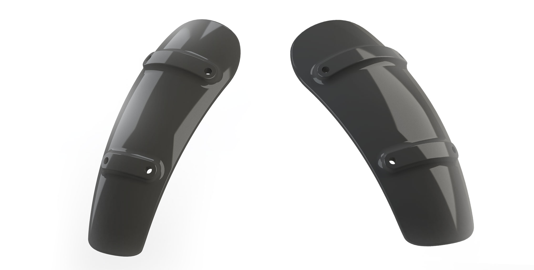 3D modeling of the front and rear fender to be 3D printed using Creality CR10S