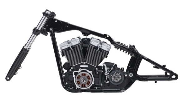 original frame with engine and fork from Milwaukee 8 Harley Davidson 2018 Softail