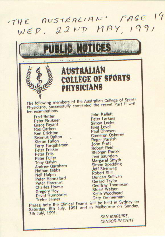 The inaugural Fellows, Canberra 1991