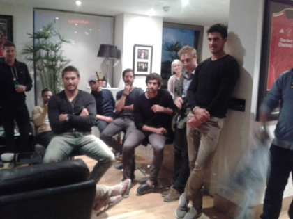 The boys at my apartment in Liverpool