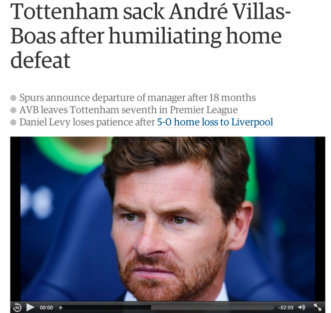 AVB was eventually sacked