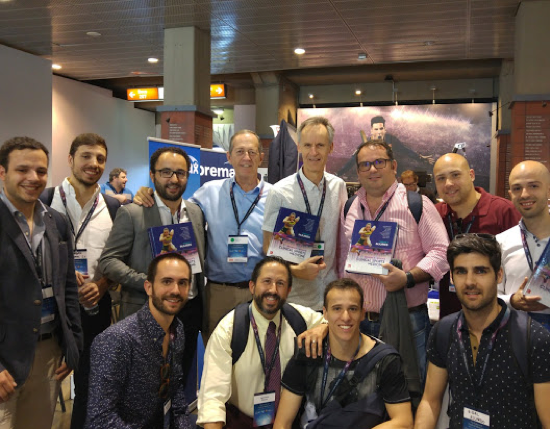 Karim and I with some Portugese fans of Clinical Sports Medicine