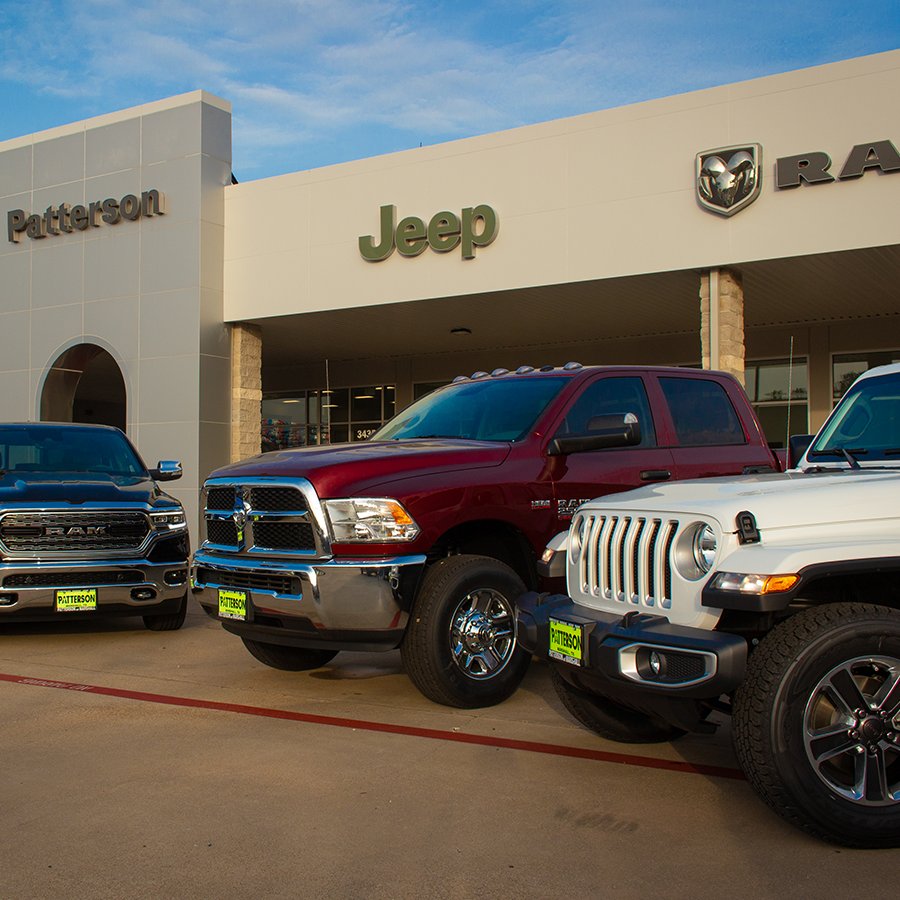 Patterson cdjr, Marshall - Chrysler, Dodge, Jeep, Ram dealership with parts, and service department.