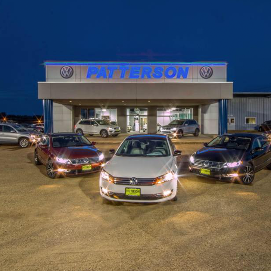 Patterson vw, Tyler - Volkswagen dealership with full parts & service department.