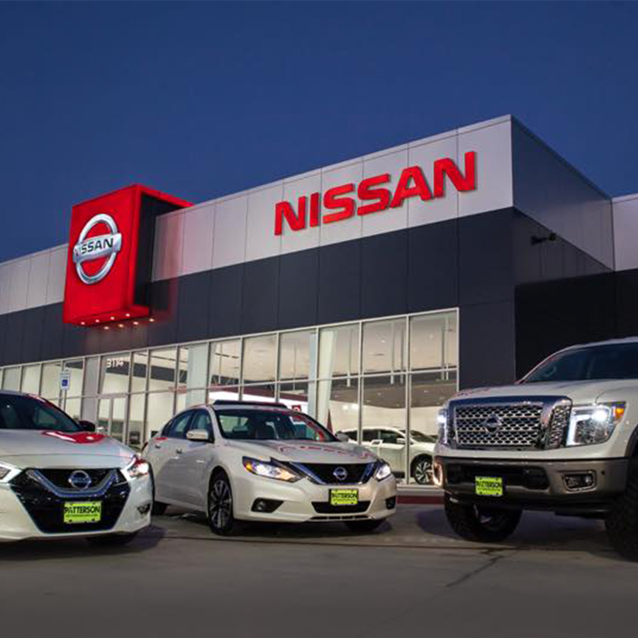 patterson nissan, longview - Nissan dealership with service, parts, rentals, and car wash.