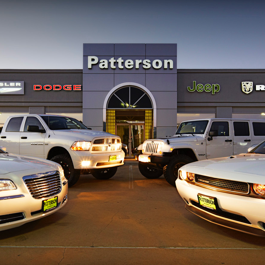 patterson cdjr,      kilgore - Chrysler, Dodge, Jeep, Ram dealership with parts, and service department.