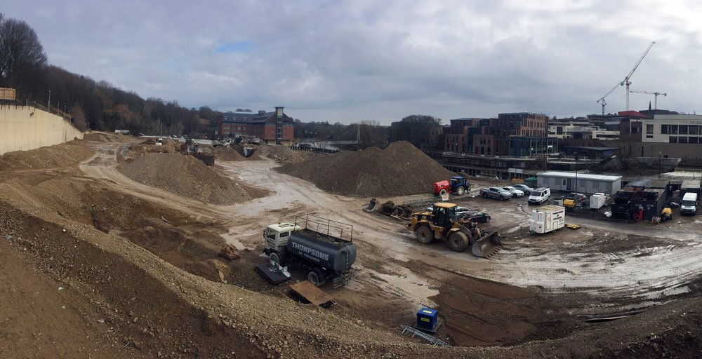 The Milburngate site overlooking the River Wear ready for the next phase of development