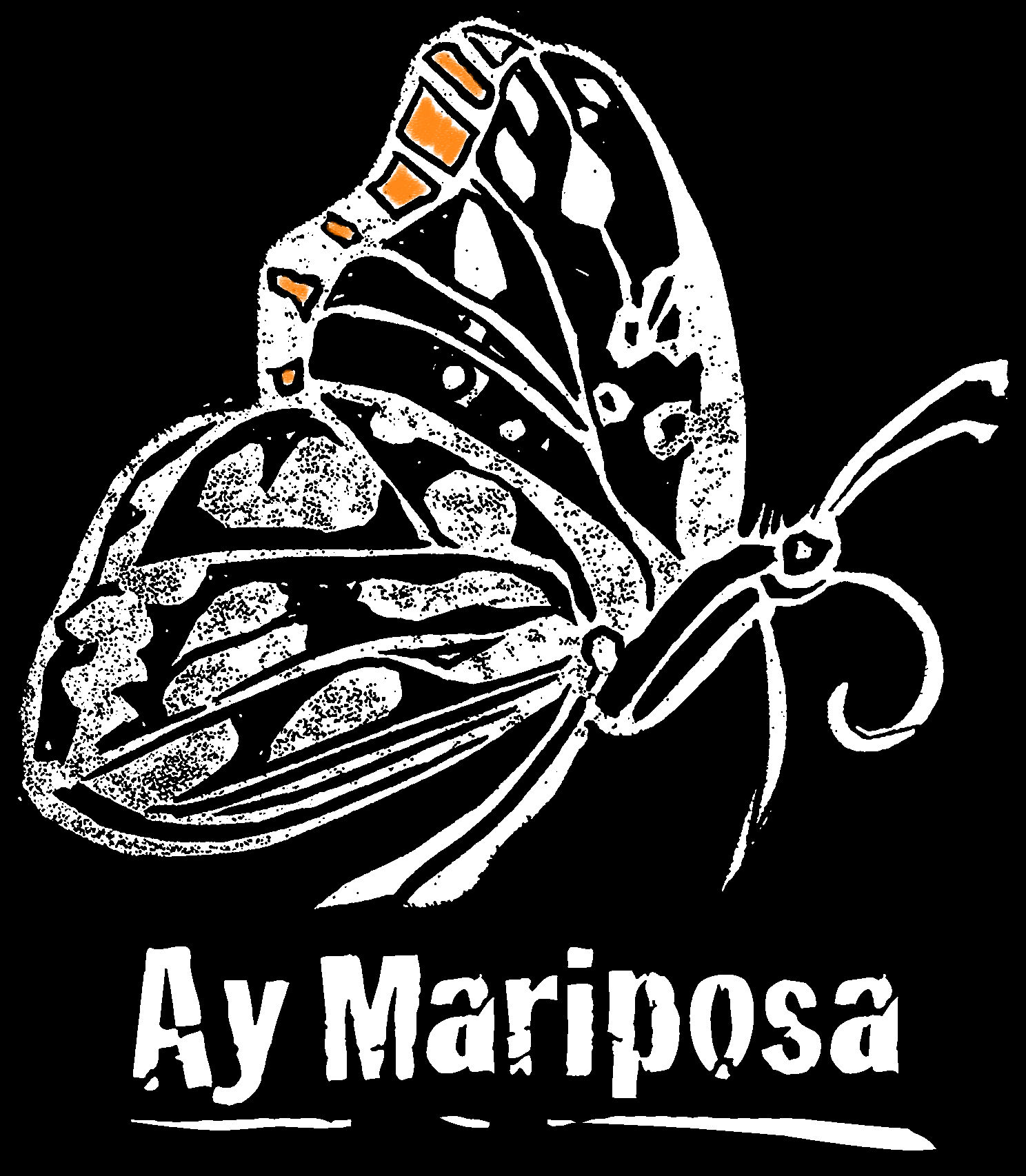 Mariposa-campaign logo no box_whiteONblack with orange.jpg