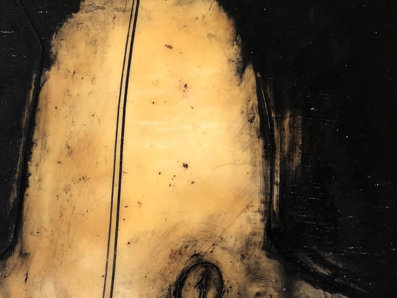 Virgilio Rospigliosi. Studio anatomico (Archetipi Psichici Visivi). 1995©. Cm 30x20, acrilico e bitume su alluminio. Dettaglio.jpg