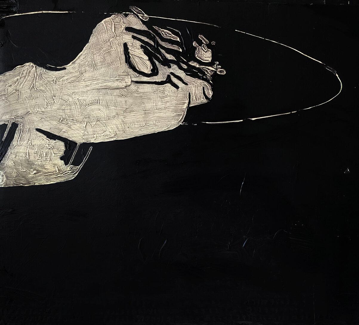 Virgilio Rospigliosi. Metallo che gira intorno (Archetipi Psichici Visivi). 1997©. Cm 40x40, acrilico su cartone.jpg