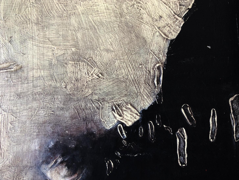 Virgilio Rospigliosi. Massa fisiologica (Archetipi Psichici Visivi). 1997©. Cm 40x40, acrilico su cartone. Dettaglio.jpg