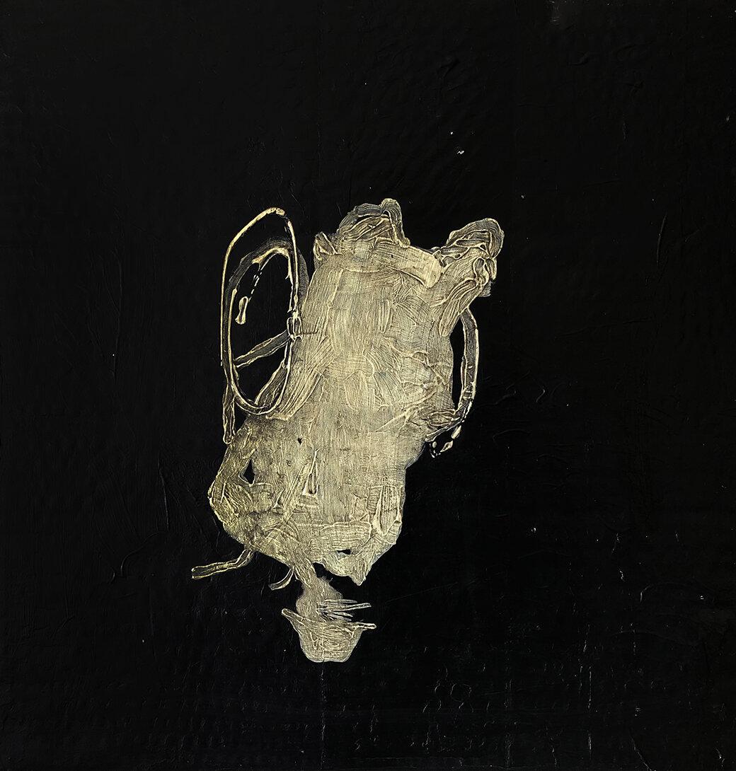 Virgilio Rospigliosi. Ritratto rovesciato (Archetipi Psichici Visivi). 1997©. Cm 40x39, acrilico su cartone.jpg