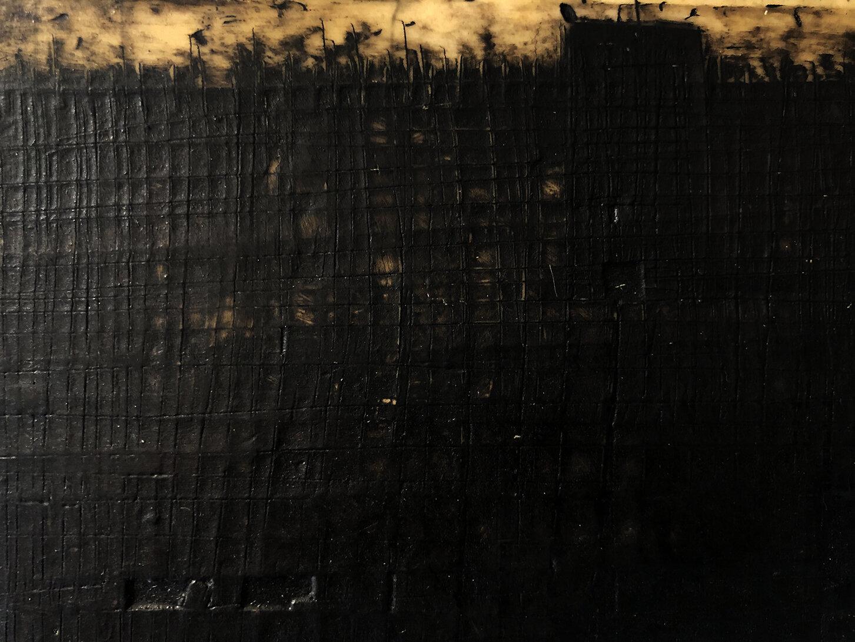 Virgilio Rospigliosi. Mare mosso (Archetipi Psichici Visivi). 1995©. Cm 10x20, acrilico e cera su alluminio. Dettaglio.jpg
