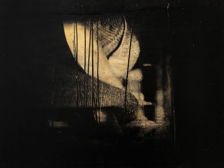 Virgilio Rospigliosi. Paesaggio del substrato (Archetipi Psichici Visivi). 1997©. Cm 23x30, acrilico e cera su fotografia analogica.jpg
