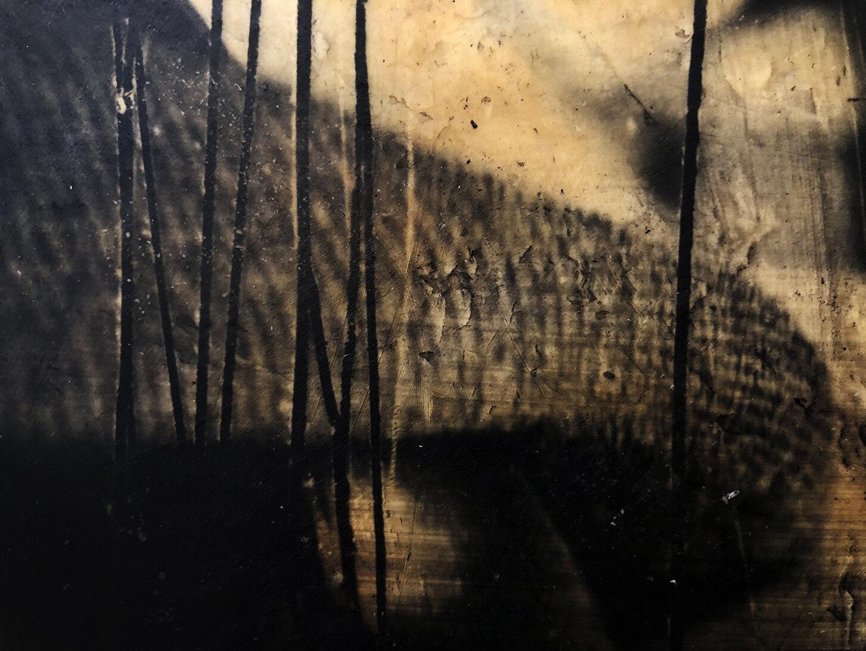 Virgilio Rospigliosi. Paesaggio del substrato (Archetipi Psichici Visivi). 1997©. Cm 23x30, acrilico e cera su fotografia analogica. Dettaglio.jpg