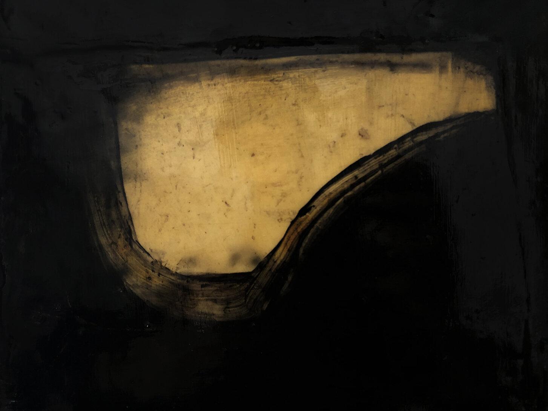 Virgilio Rospigliosi. Paesaggio proiettato (Archetipi Psichici Visivi) 1995©. Cm 29x23, acrilico e cera su alluminio.jpg