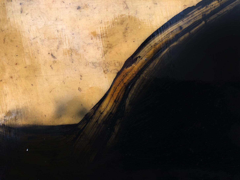 Virgilio Rospigliosi. Paesaggio proiettato (Archetipi Psichici Visivi) 1995©. Cm 29x23, acrilico e cera su alluminio. Dettaglio.jpg