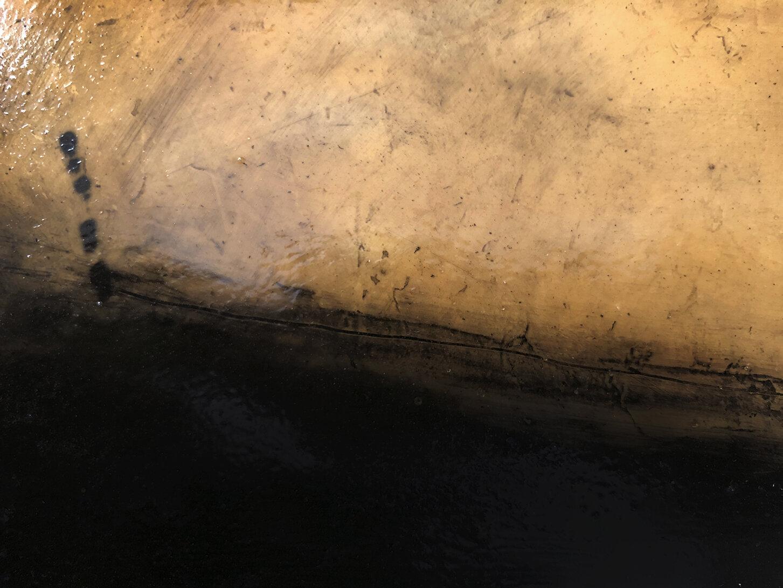 Virgilio Rospigliosi. Gambe speculari (Archetipi Psichici Visivi). 1995©. Acrilico e cera su fotografia analogica applicata ad alluminio. Dettaglio 2.jpg