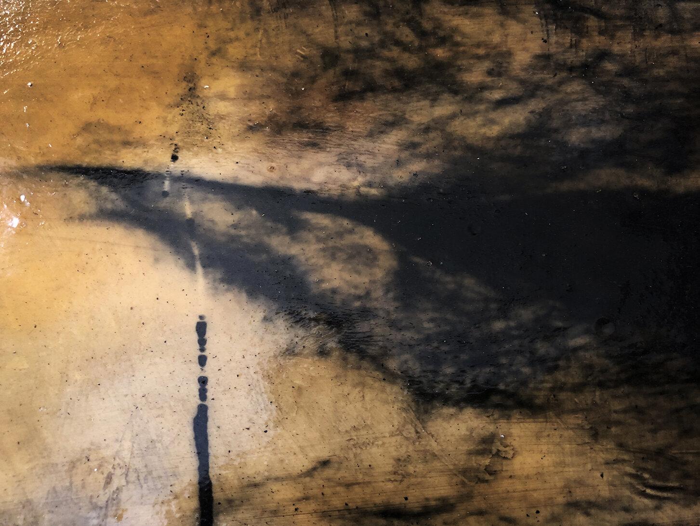 Virgilio Rospigliosi. Gambe speculari (Archetipi Psichici Visivi). 1995©. Acrilico e cera su fotografia analogica applicata ad alluminio. Dettaglio 1.jpg