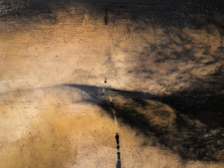Virgilio Rospigliosi. Gambe speculari (Archetipi Psichici Visivi). 1995©. Acrilico e cera su fotografia analogica applicata ad alluminio. Dettaglio 3.jpg