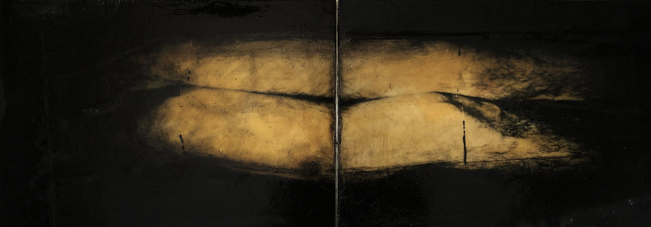 Virgilio Rospigliosi. Gambe speculari (Archetipi Psichici Visivi). 1995©. Acrilico e cera su fotografia analogica applicata ad alluminio.jpg