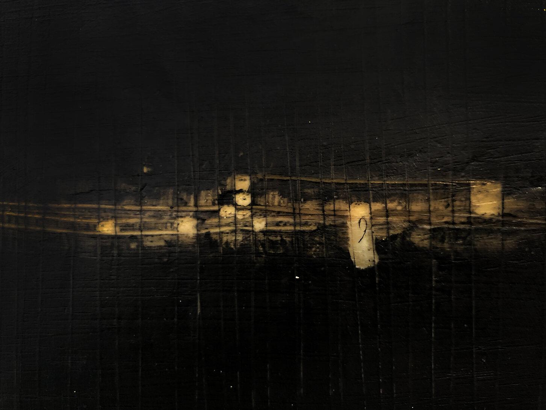 Virgilio rospigliosi. Luce orrizzontale (Archetipi Psichici Visivi). 1995©. Cm 20x30, acrilico e bitume su carta fotografica. Dettaglio.jpg