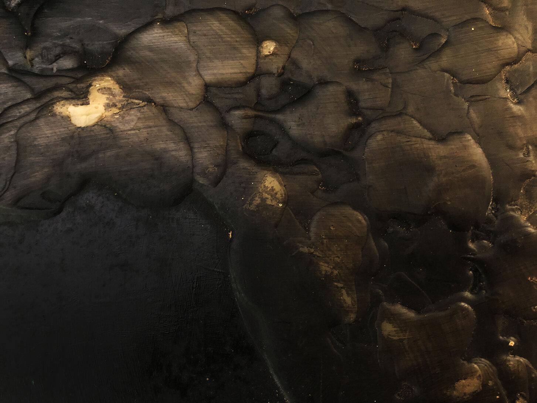 Virgilio Rospigliosi. Paesaggio di profilo (Archetipi Psichici Visivi). 1995©. Cm 35x46, acrilico e cera su alluminio. Dettaglio 2.jpg