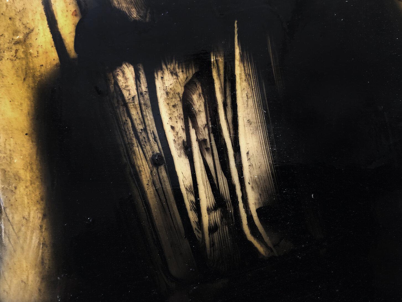 Virgilio Rospigliosi. Illuminazione veloce (Archetipi Psichici Visivi). 1997©. Cm23x33, acrilico su alluminio. Dettaglio.jpg