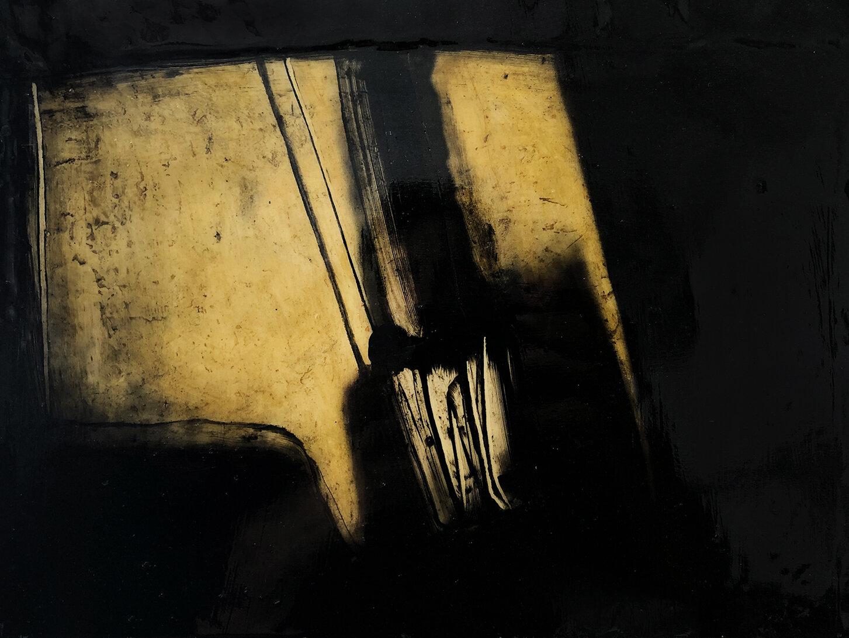 Virgilio Rospigliosi. Illuminazione veloce (Archetipi Psichici Visivi). 1997©. Cm23x33, acrilico su alluminio.jpg