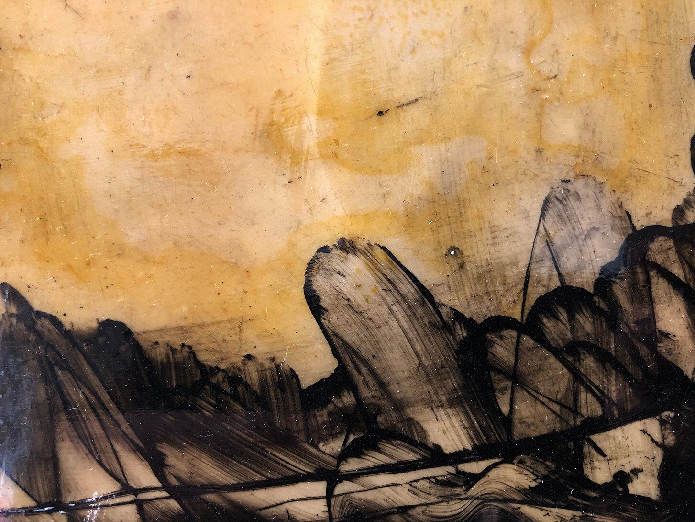 Virgilio Rospigliosi. Studio per canneto (Archetipi Psichici Visivi). 1996©. Cm 23x36, acrilico e cera su fotografia analogica. Dettaglio 2.jpg