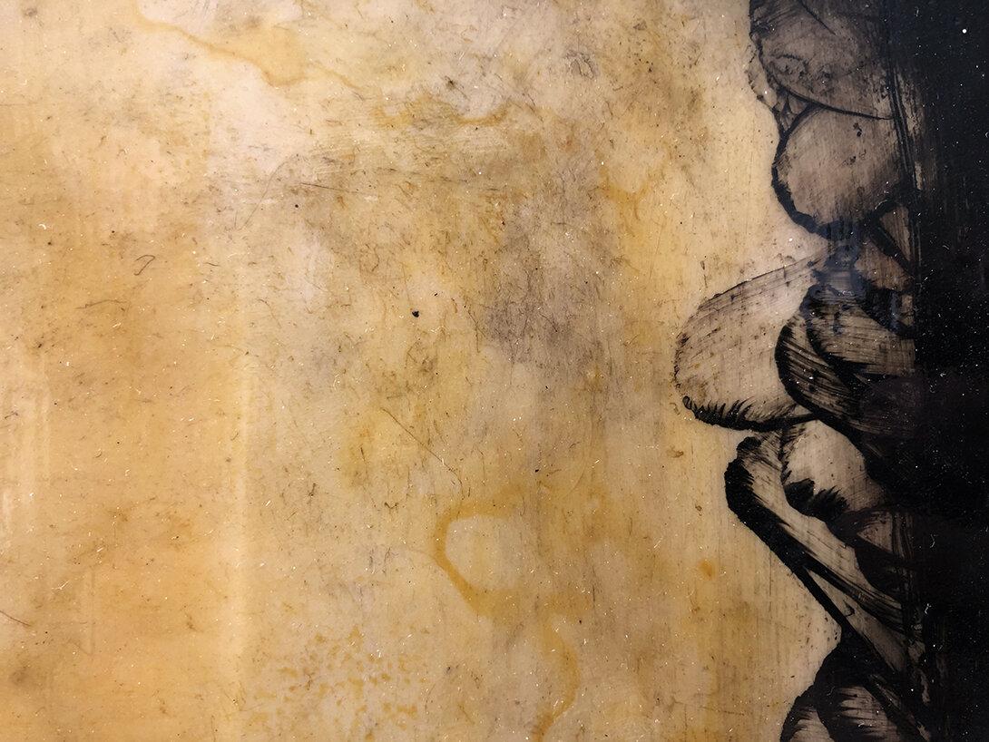 Virgilio Rospigliosi. Studio per canneto (Archetipi Psichici Visivi). 1996©. Cm 23x36, acrilico e cera su fotografia analogica. Dettaglio 3.jpg