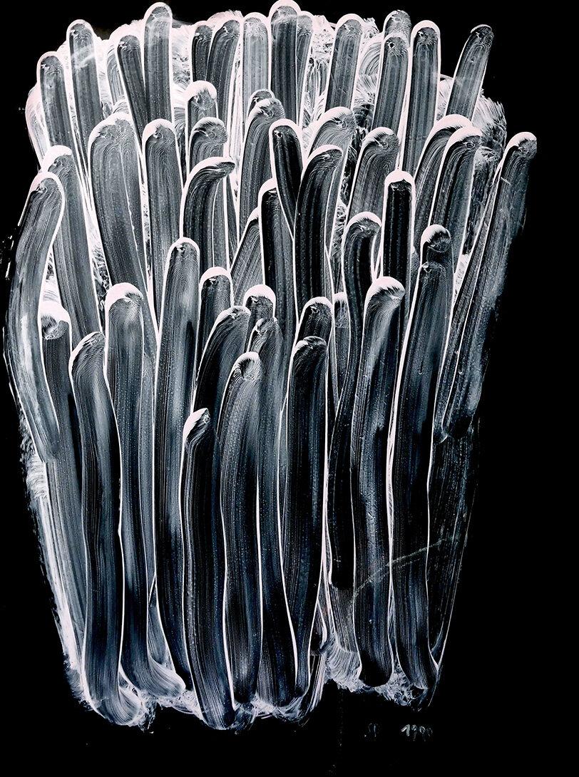 Virgilio rospigliosi©Frutto sintetico v. 1990. Cm 40x30, acrilico e smalto su tavola.jpg