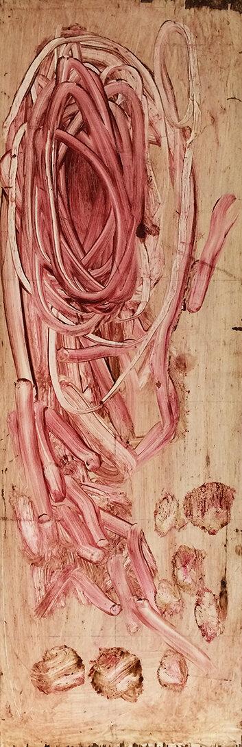 Virgilio Rospigliosi. Singolarità. 1994©. Cm 75x25, acrilico e cera su legno.jpg