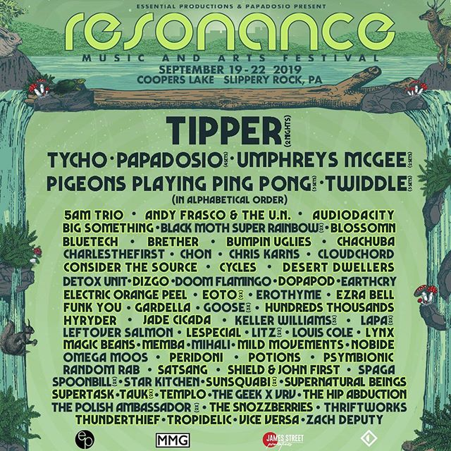 😱 We are beyond stoked to be a part of the STACKED lineup for Resonance Music Festival this year at a new location in Slippery Rock, PA!!! 😱 #thesnozzberries #snozzberries #thesnozzberriesavl #resonance2019 #resonancemusicfestival #ashevillemusic #musicfestivals #psychedelicrock #funkband #wooklife #festylife #asheville #tipper #papadosio #umphreysmcgee #pppp #twiddle #tycho #holyshit  Ticket link: http://bit.ly/Reso19tix